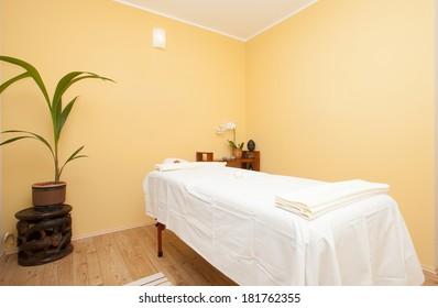 massage room in spa saloon