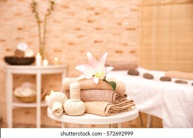 Massage setting in modern wellness center