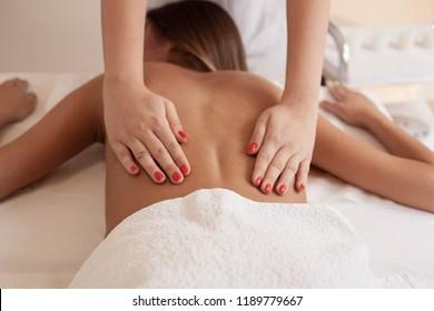 Massage therapy,close up.