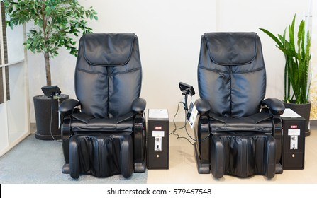 Massage vibrating leather chairs