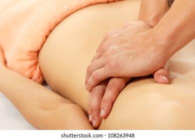 massage of young beautiful woman