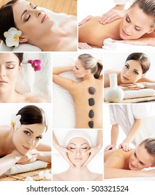 Massaging, spa, wellness, health care and aroma therapy collection. Asian medicine collection.