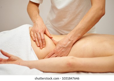 the masseuse does massage