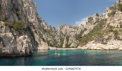 The Massif des Calanques National Park, near Cassis, France, is home to some of the most beautiful cliffs and turquoise waters that the Mediterranean Sea has to offer