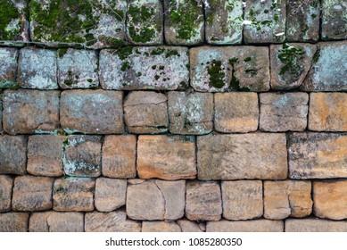 Massive cyclops wall huge stone rock stone