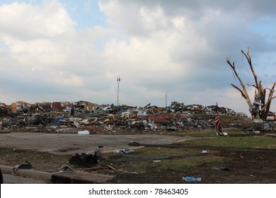 Massive destruction caused by an EF5 Monster Tornado packing 200+ mph winds.