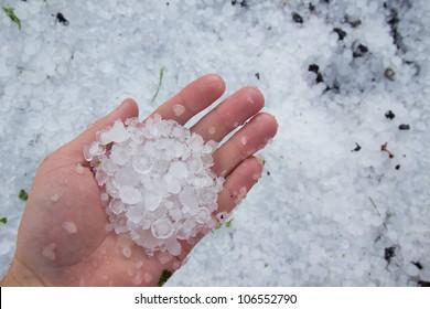 massive hailstorm