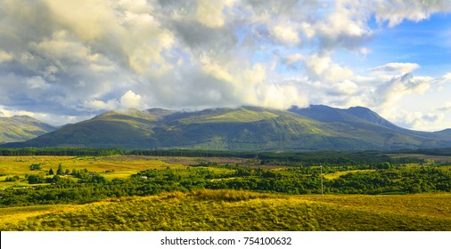 Massive Mount Ben Nevis near Fort William, Scotland