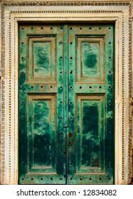 Massive old historic door