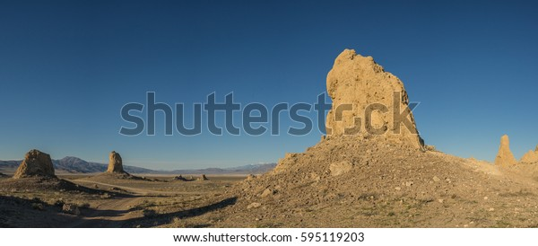 Massive rock cathedrals stand in the vast desert wilderness of southern California's Mojave.