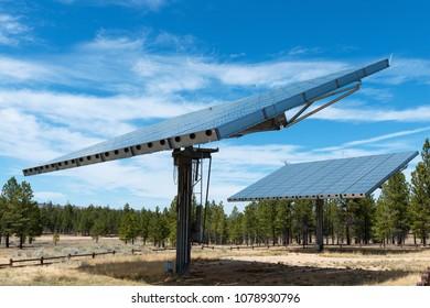 Massive solar power array, Bryce Canyon National Park, Utah