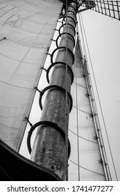 Mast of Large Sailboat in NYC