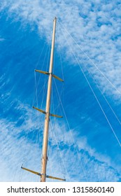 mast and rigging of a sailing boat