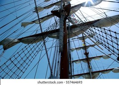 mast sailboat sails