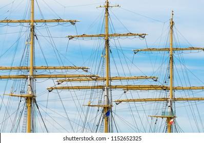 mast of a sailing ship.