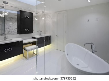 Master bathroom in new luxury house