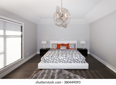Master bedroom in new luxury house