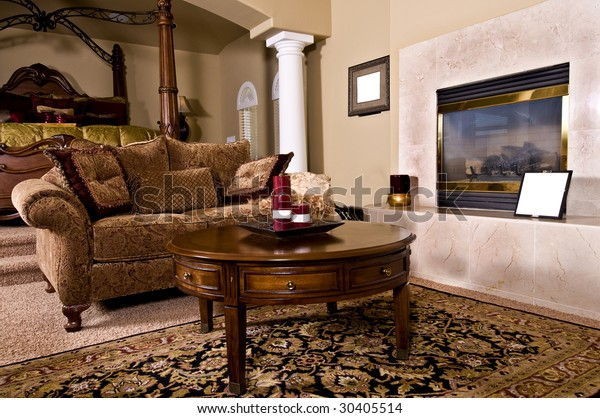 Master Bedroom Sitting Room Fireplace Over Stock Photo Edit Now 30405514