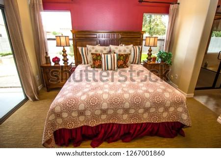 Master Bedroom Wooden Nightstands Lamps Stock Photo Edit Now