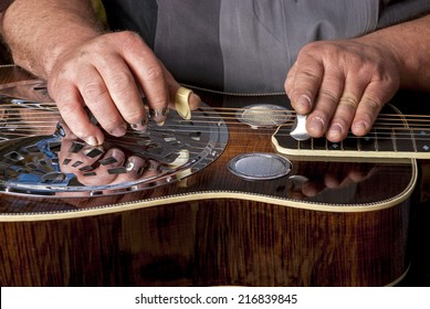 Master Dobro guitarist plays his instrument