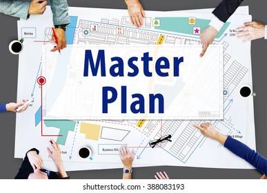 Master Plan Strategy Vision Tactics Design Planning Concept