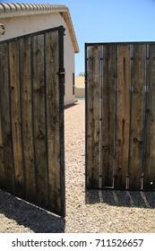 Master planned neighborhood house's backyard RV gate
