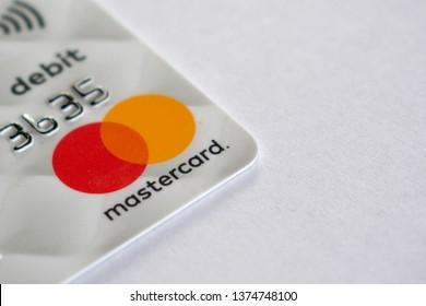 mastercard logo on commonwealth card - melbourne australia - 04/20/2019 - image