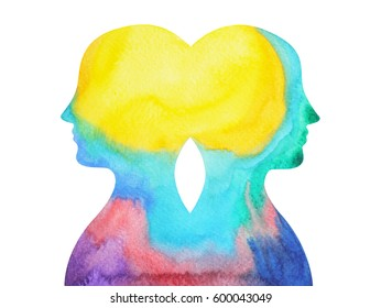 mastermind, chakra power, inspiration abstract thought together, world, universe inside your mind, watercolor painting