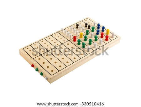 Mastermind Wooden Brain Teaser Game Isolated Stock Photo Edit Now Mesmerizing Wooden Mastermind Game