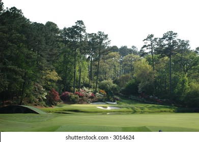 Masters.  12th hole at Augusta