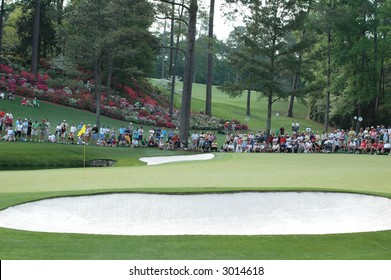 Masters.  Bunker at Augusta