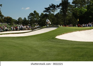 Masters.  Bunkers at Augusta