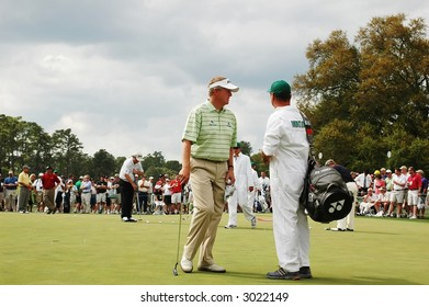 Masters.  Colin Montgomerie at Augusta
