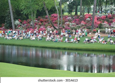 Masters.  Gallery at Augusta