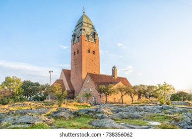 Masthugget Church (Masthuggskyrkan) - Monumental brick church atop a hill in Gothenburg, Sweden