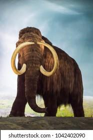 Mastodon exhibit at Royal British Columbia Museum in Victoria, British Columbia, Canada