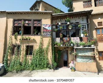 Masuleh, Iran - July 19, 2016 : Traditional house in the historic village of Masuleh, a popular tourist destination in Gilan province, Iran