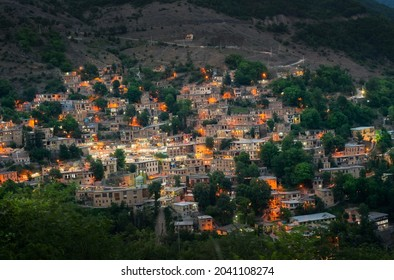 Masuleh at sunset , also Romanized as Masoleh and Masouleh is a village in the Sardar e Jangal District, in Fuman County, Gilan Province, Iran.