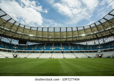 Mat 22, 2018, Volgograd, Russia. Football stadium Volgograd arena ready for FIFA World cup 2018