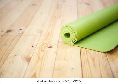 Mat for fitness on floor