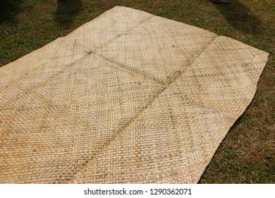A mat in a village of Fiji, Viti Levu, Fiji