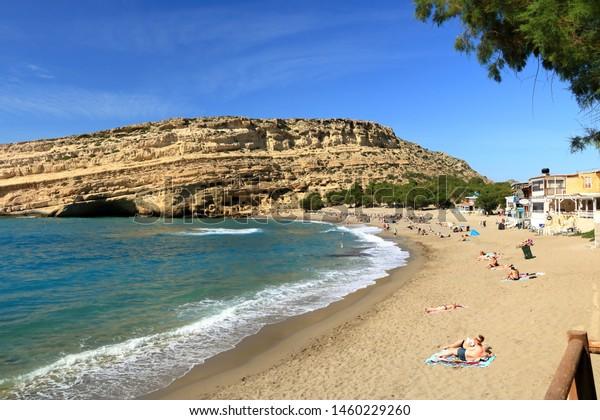 Matala Crete Island Greece May 28 Stock Photo Edit Now
