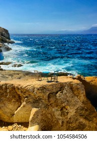 Matala is located 68km southwest of Heraklion, where the plain Messara meets Asteroussia Mountains. This is one of the most popular tourist destinations of Crete