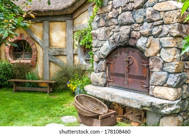 MATAMATA, NEW ZEALAND - JANUARY 11, 2014: Hobbiton - site created for filming Hollywood blockbusters HOBBIT and LORD OF THE RINGS.