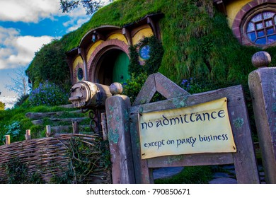 Matamata, Waikato / New Zealand - May 21st 2017: Bag End, Hobbiton