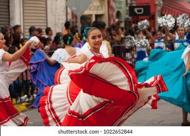 Matamoros, Tamaulipas, Mexico - February 25, 2017, Desfile Fiestas Mexicanas is part of the Charro Days Fiesta - Fiestas Mexicanas, A bi-national festival between USA and Mexico.