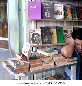 MATANZA, CUBA-APRIL 04,2018: Local bookstore with very old books about the revolution and its heroes in Spanish