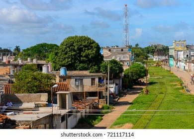 MATANZAS PROV., CUBA - SEP 7, 2017: House in Matanzas, one of the major provinces in Cuba.