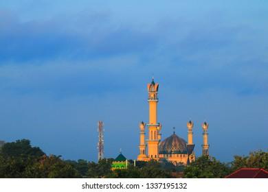 Mataram Lombok, Indonesia - January 07, 2019: Great architecture at Islamic Center Mataram Lombok, Indonesia on January 2019.