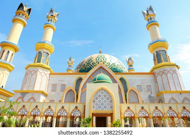 Mataram Lombok, Indonesia - January 07, 2019: Great architecture at Islamic Center Mataram Lombok, Indonesia on January 2019